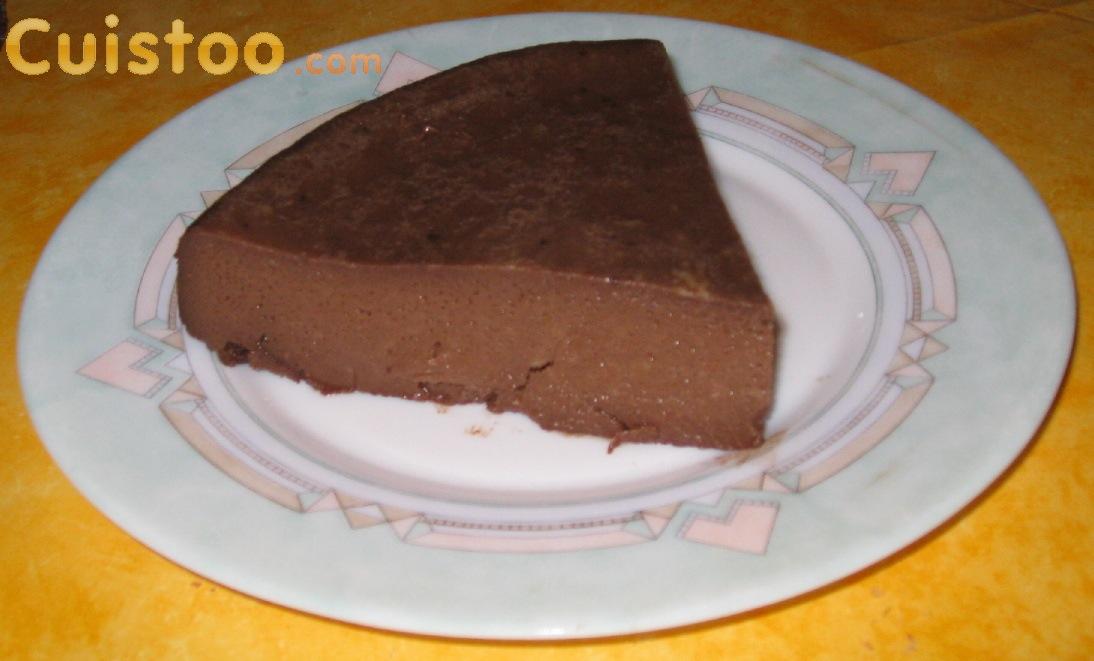 Recette de gateau flan au chocolat