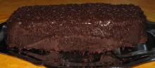 photo d un cake au chocolat
