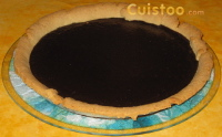 photo tarte moelleuse au chocolat