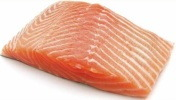photo tranche de filet de saumon